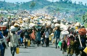 Hutus fleeing RPF killers 1994